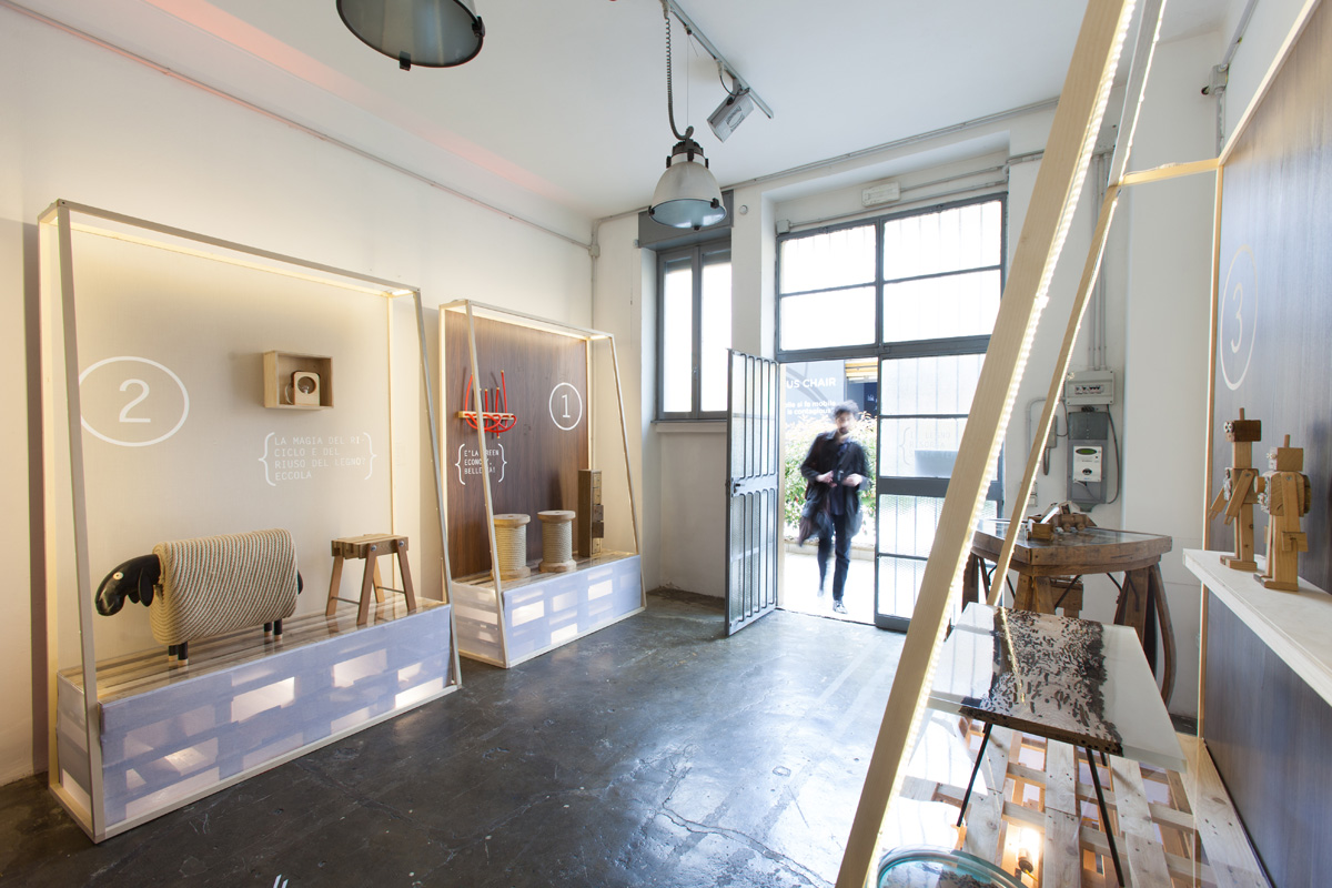 Beside - Laboratorio, Open space, Spazio industriale di 85mq in Via Tortona 20 | location allestita 2