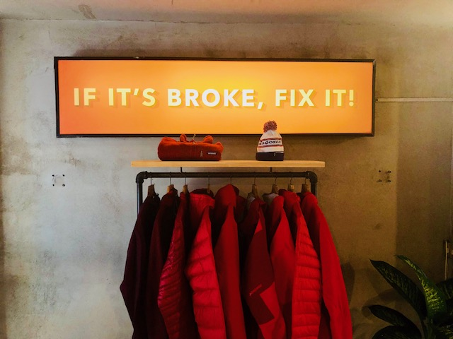 "PATAGONIA - Thrift shop ""Better than new"" in Via Tortona 5 - 7"
